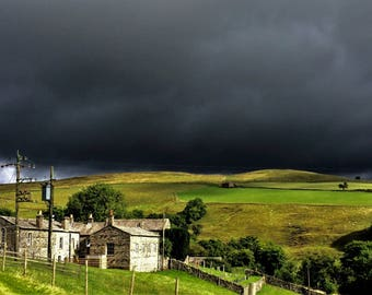 Stormy Yorkshire Dales Sky A6 Greeting Card