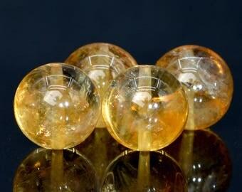 53 / 26 Pcs - 8MM Gold Citrine Beads Grade AA Round Genuine Natural Gemstone Loose Beads (100719-308)