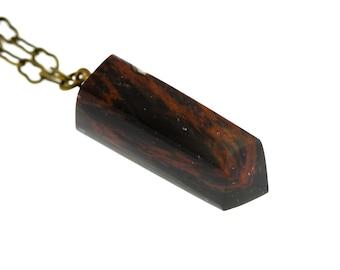 Mahogany Obsidian Chakra Pendant Necklace
