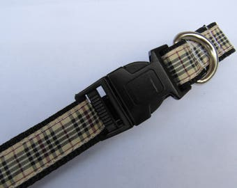 Blackberry tartan | Dog collar