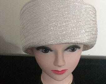 1950/60's Jackie Kennedy Cloche style Hat, made in France