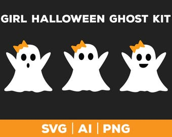 Ghost SVG - halloween svg png ai, ghost svg, vector girl ghost, Thanksgiving svg, fall svg, ghost graphic, ghost face svg, ghost clip art