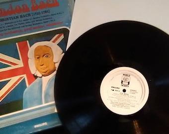 Vinyl LP The London Bach Johann Christian Bach Vienna symphony orchestra PLUS free mystery record!!!