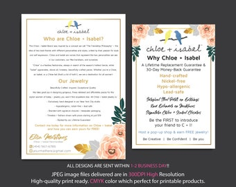 Who are Chloe and Isabel Cards, Why Chloe and Isabel, Custom Chloe and Isabel Cards, Fast Free Personalization, Printable Cards CL19
