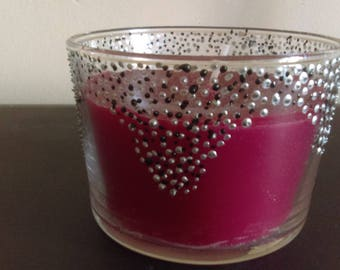 NON GMO soy wax candle / candle holder decorated by hand