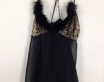 Black leopard nighty