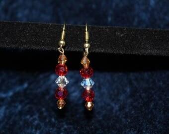 Jewel Tone Bead Drop Earrings