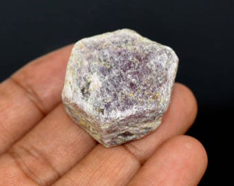 187.50 Ct. Natural Untreated Hexagon Cut Ruby Corrundum Gemstone Rough
