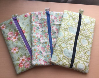 Floral Wide Pencil Cases Set