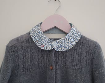Peter Pan collar in Liberty and linen for kids