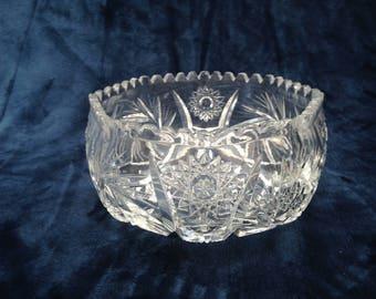 Edinburgh cut crystal serving bowl / fruit bowl / decorative bowl / trifle bowl