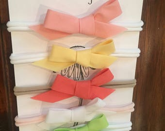 Nylon baby headbands in various colors