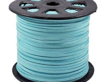 1 M wire cord turquoise wide 2.5 mm