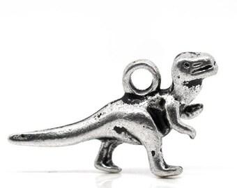 1 pendant dinosaur metal 22 x 12 mm