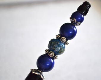 Pen-Blue Bead that the blue gem!