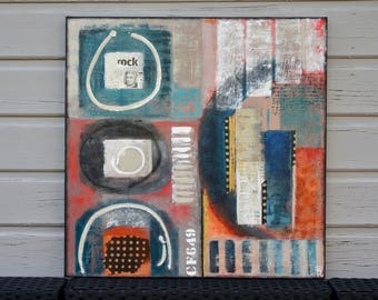 Unique abstract painting modern painting