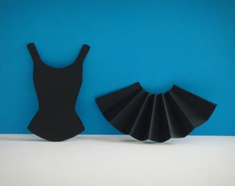 Dancer skirt set and a black top cleavage
