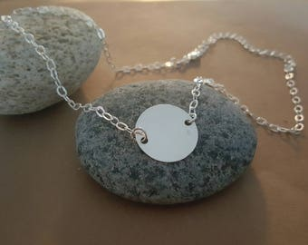 fancy and round medal in sterling silver chain