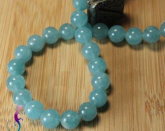 10 pearls 8mm aquamarine