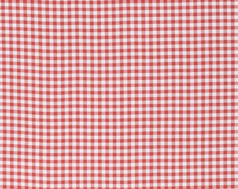 Clea de Linum, red, white and grey checkered, gingham