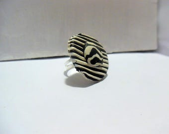 Abstract polymer clay ring