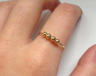 TALIA - silver plated ring 18K Gold