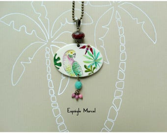 Necklace - Porcelain - tropical-inspired necklace