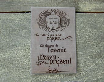 Card quote Buddha (magnet)