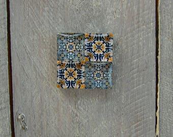 Square concrete magnet