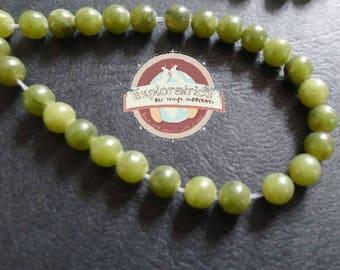 10 beads round 4mm green jade gemstones