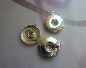 1 silver metal snap 19mm for pendant