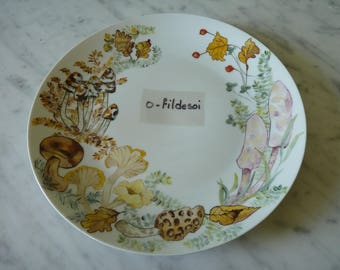 Plate porcelain decor hand number 3