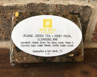 Organic Green Tea & Honey Facial Cleansing Bar