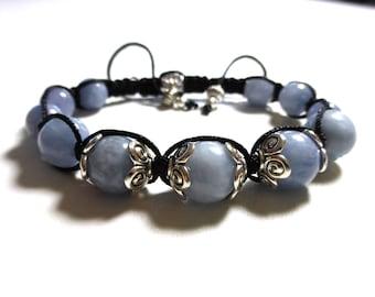 romantic bracelet aquamarine shamballa bracelet