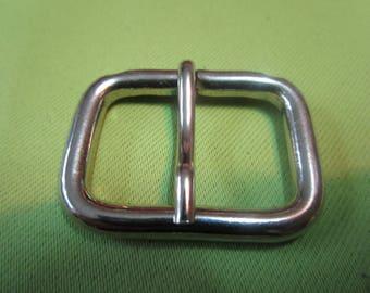 Nice rectangular silver metal buckle