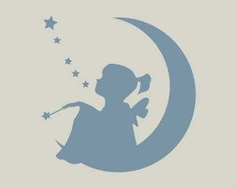 Fairy. Fairy stencil. Fairy silhouette (ref 309)