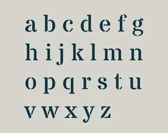 ABC. Board letters. Adhesive vinyl stencil. (ref 287)