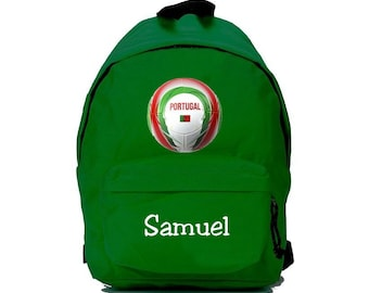 bag has green balloon Portugal personalized with name