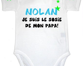Bodysuit look-alike dad personalized with name