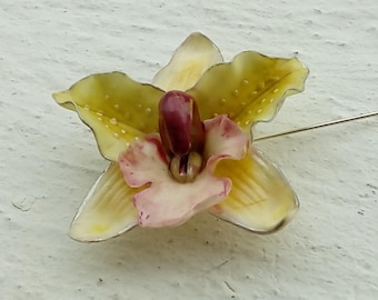 PIN: Silver Orchid yellow - pink