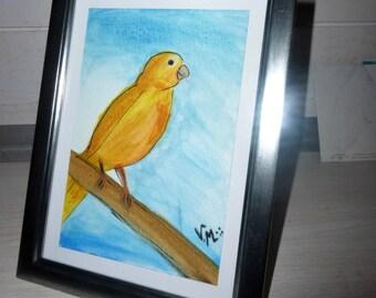 Canary yellow map postcard unique original
