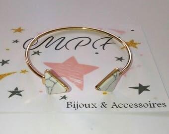 White & gold Bangle Bracelet