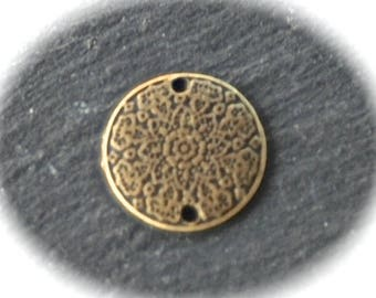 10 round Medallion connectors ethnic spirit bronze 19mm