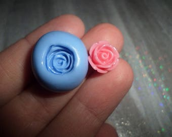 New! Small rose mold 1 cm for your polymer clay