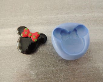 Mold for polymer clay head mouse girl 2.7 cm
