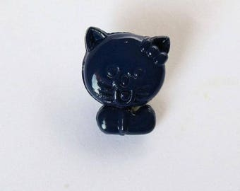 Set of 6 x 14mm Navy - 001384 cat buttons