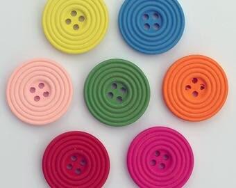 10 x wooden Spiral 25 mm - 02274 buttons