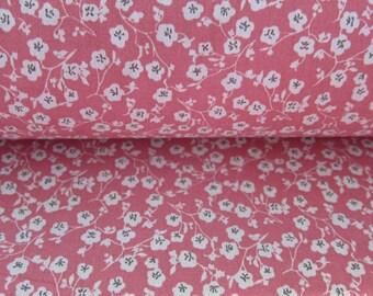 Flower Imelda pink cotton fabric