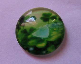 1cabochon glass 20mm theme 4 clover leaves