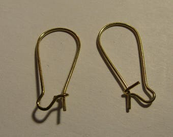 set of 10 gold plated earrings 24mmx12mm
